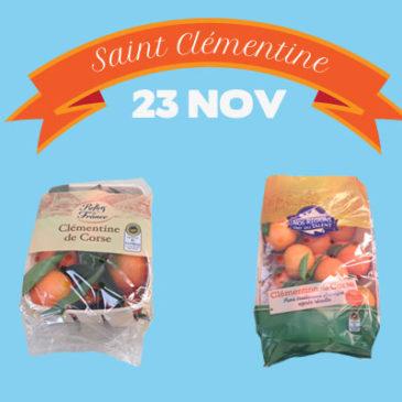 Aujourd'hui c'est la Saint Clémentine ! Découvrez nos packs Agrucorse dans votre grande surface